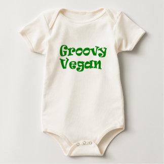 """Body Para Bebê """"Bodysuit do bebê do vegan Groovy"""""""
