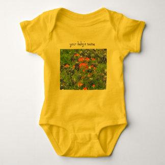Body Para Bebê Bodysuit do bebê do wildflower de Texas