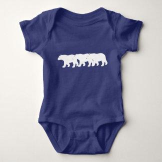 Body Para Bebê Bodysuit do bebê dos ursos polares