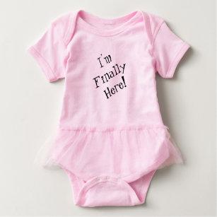 Body Para Bebê Bodysuit do bebê, eu estou finalmente aqui