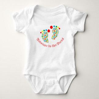 Body Para Bebê Bodysuit do bebê, manchado, colorido, ponto morto
