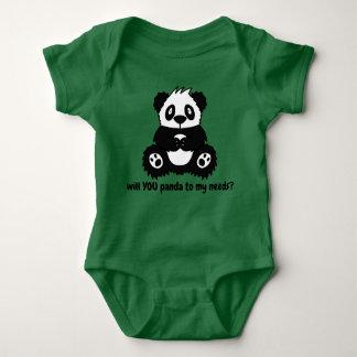 Body Para Bebê Bodysuit do bebé ou da menina da panda