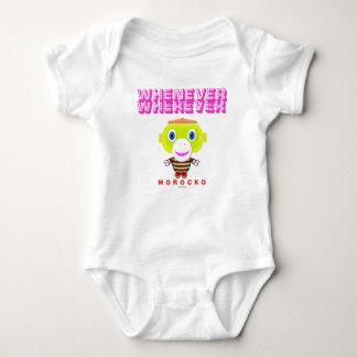 Body Para Bebê Bodysuit do bebê    sempre que onde por Morocko