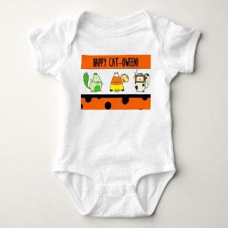 Body Para Bebê Bodysuit do Dia das Bruxas do gato dos desenhos