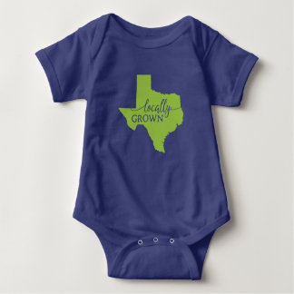Body Para Bebê Bodysuit do estado de Texas, cultivado localmente
