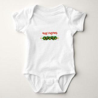 Body Para Bebê Bodysuit do Feliz Natal com festão festiva