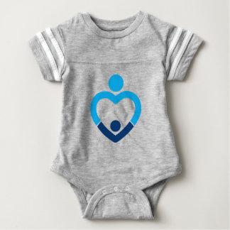 Body Para Bebê Bodysuit do futebol do bebê - cinza
