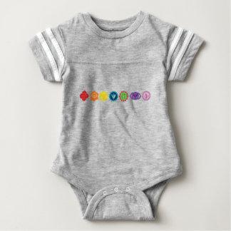 Body Para Bebê Bodysuit do futebol do bebê de Chakra