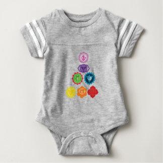 Body Para Bebê Bodysuit do futebol do bebê de sete Chakra