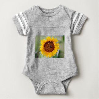 Body Para Bebê Bodysuit do futebol do bebê do girassol