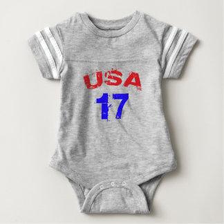 Body Para Bebê Bodysuit do futebol do bebê dos EUA