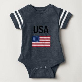 Body Para Bebê Bodysuit do futebol dos EUA