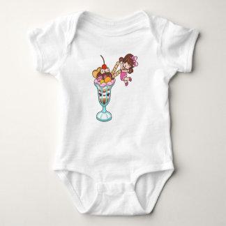 Body Para Bebê Bodysuit do jérsei da menina do sorvete de Kawaii