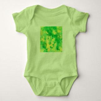 Body Para Bebê Bodysuit do jérsei do bebê da aguarela do verde