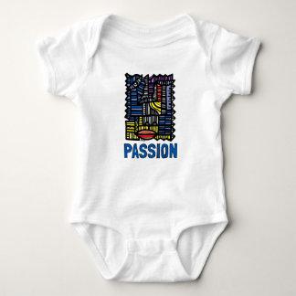 """Body Para Bebê Bodysuit do jérsei do bebê da """"paixão"""""""