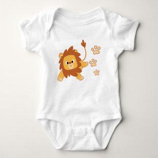 Body Para Bebê Bodysuit do jérsei do bebê da pegada do leão