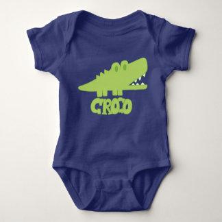 Body Para Bebê Bodysuit do jérsei do bebê de Croco do crocodilo