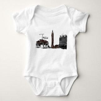 Body Para Bebê Bodysuit do jérsei do bebê de Taipei Formosa