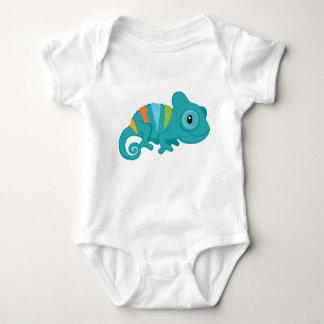 Body Para Bebê Bodysuit do jérsei do bebê do camaleão