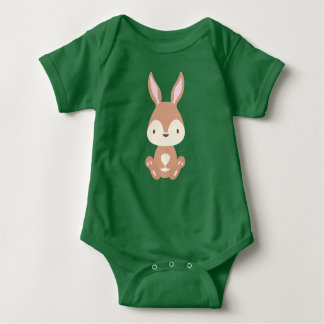 Body Para Bebê Bodysuit do jérsei do bebê do coelho