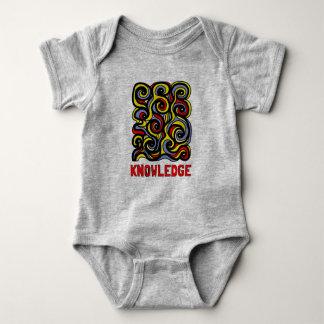 """Body Para Bebê Bodysuit do jérsei do bebê do """"conhecimento"""""""