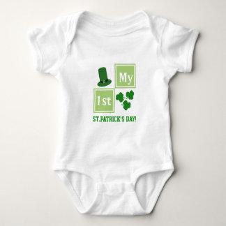 Body Para Bebê Bodysuit do jérsei do bebê do dia de St Patrick