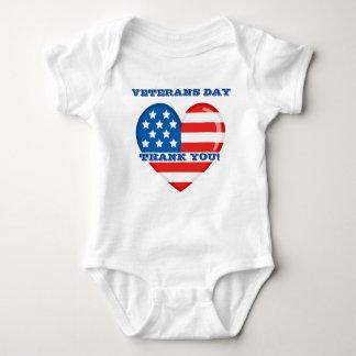 Body Para Bebê Bodysuit do jérsei do bebê do dia de veteranos