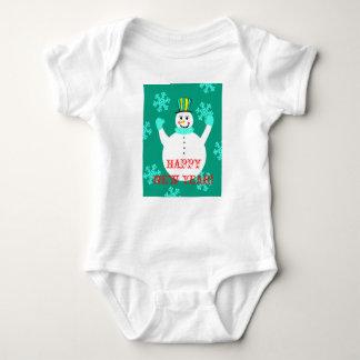 Body Para Bebê Bodysuit do jérsei do bebê do feliz ano novo do