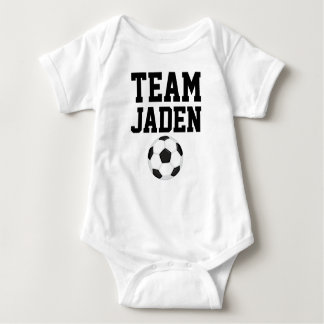 Body Para Bebê Bodysuit do jérsei do bebê do futebol