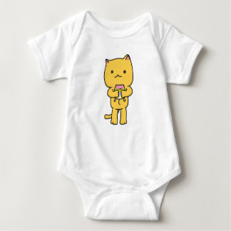 Body Para Bebê Bodysuit do jérsei do bebê do gatinho de Kawaii