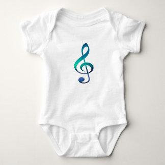 Body Para Bebê Bodysuit do jérsei do bebê do símbolo de música de