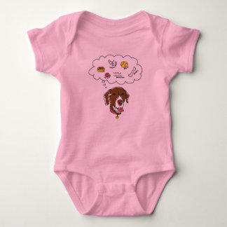 Body Para Bebê Bodysuit do jérsei do bebê dos pensamentos do GSP
