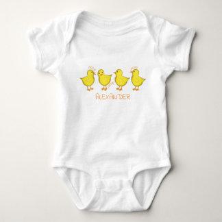 Body Para Bebê Bodysuit do jérsei do bebê dos pintinhos