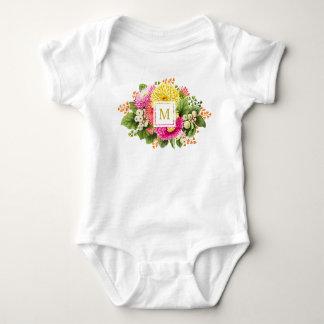 Body Para Bebê Bodysuit do jérsei do rosa quente dos ásteres do
