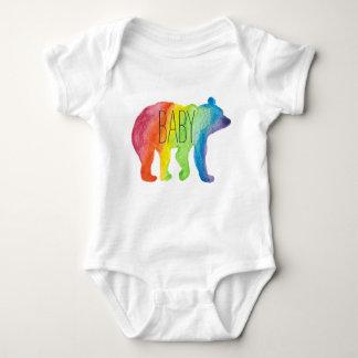 Body Para Bebê Bodysuit do orgulho da família da aguarela do urso