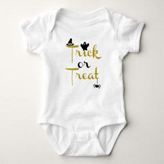 Body Para Bebê Bodysuit do ouro do brilho da doçura ou travessura