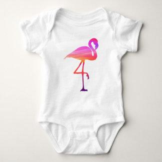 Body Para Bebê Bodysuit do por do sol do flamingo