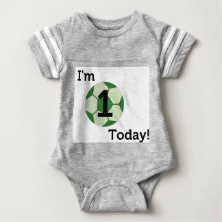 Body Para Bebê Bodysuit do primeiro aniversario do futebol do