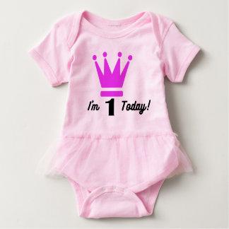 Body Para Bebê Bodysuit do primeiro aniversario do tutu do bebé