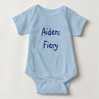 Body Para Bebê Bodysuit do significado do nome do bebê de Aiden