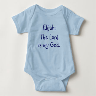 Body Para Bebê Bodysuit do significado do nome do bebê de Elijah