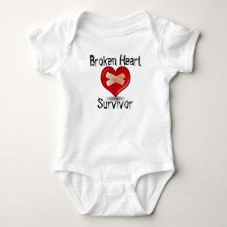 Body Para Bebê Bodysuit do sobrevivente do coração quebrado