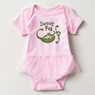 Body Para Bebê Bodysuit do tutu da ervilha doce