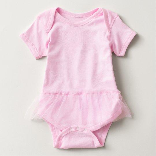 Macacão Body Tutu para Bebê, Cor-de-rosa