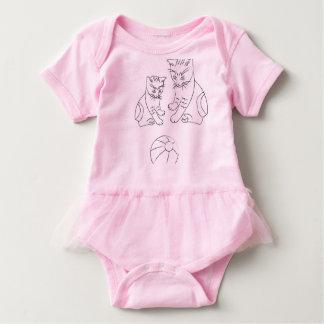 Body Para Bebê Bodysuit do tutu do bebê com gatos engraçados