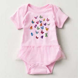 Body Para Bebê Bodysuit do tutu do bebê da borboleta