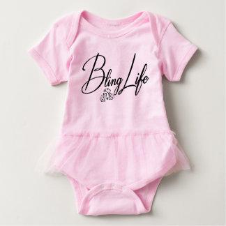Body Para Bebê Bodysuit do tutu do bebê da vida de Bling