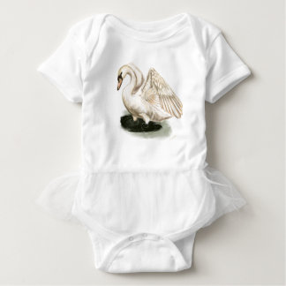 Body Para Bebê Bodysuit do tutu do bebê do impressão da cisne