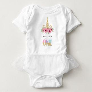 Body Para Bebê Bodysuit do tutu do bebê do unicórnio, primeiro