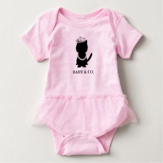 Body Para Bebê Bodysuit do tutu do partido do rosa do gato de